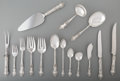 Silver Flatware, American, A Seventy-Five Piece Watson Meadow Rose Pattern SilverFlatware Service with Serving Pieces, Attleboro, Massachu...(Total: 75 Items)