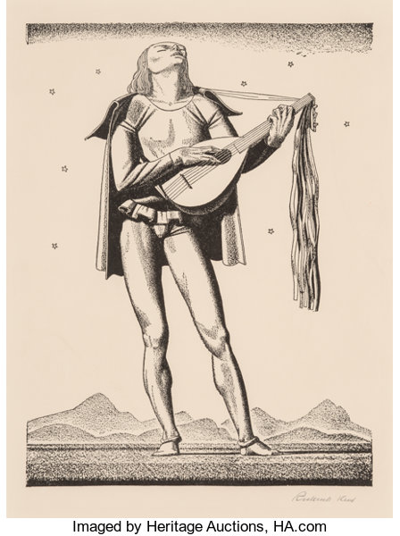 Rockwell Kent American 1882 1971 Troubadour From The Complete