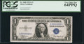 Small Size:Silver Certificates, Low Serial Number Q00000002C Fr. 1608 $1 1935A Silver Certificate. PCGS Very Choice New 64PPQ.. ...