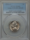 Jefferson Nickels, 1941-S 5C Large S, FS-501, MS66 PCGS. (FS-024.5). PCGS Population: (18/0). NGC Census: (9/3)....