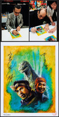 "Movie Posters:Science Fiction, Godzilla by Bob Eggleton (2014). Autographed Limited Edition Print(8.5"" X 11""). Science Fiction.. ..."