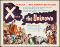 "Movie Posters:Science Fiction, X... the Unknown (Warner Brothers, 1957). Half Sheet (22"" X 28"").Science Fiction.. ..."