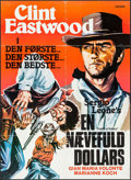 "Movie Posters:Western, A Fistful of Dollars (United Artists, 1967). Danish Poster (24.5"" X 33.5""). Western.. ..."