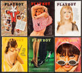"Movie Posters:Sexploitation, Playboy Magazine Lot (HMH Publishing, 1965). Magazines (12)(Multiple Pages, 8.25"" X 11""). Sexploitation.. ... (Total: 12Items)"