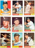 Autographs:Sports Cards, Signed 1961 New York Yankees Topps Cards/Cuts Collection (35). ...