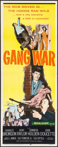 "Movie Posters:Crime, Gang War (20th Century Fox, 1958). Autographed Insert (14"" X 36"").Crime.. ..."