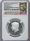 Kennedy Half Dollars, 2014-P 50C High Relief, Silver, 50th Anniversary, Early ReleasesSP70 Enhanced Finish NGC, and a 2014-P 50C High Relief, Sil...(Total: 2 coins)