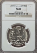 Modern Issues, 2011-S 50C U.S. Army Half Dollar MS70 NGC, and a 2011-D 50C U.S. Army Half Dollar, Early Release PR70 Ultra Cameo NGC.... (Total: 2 coins)