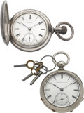 Timepieces:Pocket (pre 1900) , United States Watch Co. John W. Lewis & Waltham P.S. BartlettModel 79. ... (Total: 2 Items)