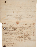 Autographs, Texas Declaration Signer John W. Moore Signed Receipt....