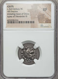 Ancients:Celtic, Ancients: EASTERN CELTS. Imitating Chios. Ca. 3rd century BC. ARdrachm. NGC XF....