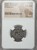 Ancients:Roman Provincial , Ancients: EGYPT. Alexandria. Probus (AD 276-282). BI tetradrachm.NGC Choice AU....