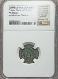 Ancients:Judaea, Ancients: JUDAEA. Procurators. Pontius Pilate (AD 26-36). AEprutah. NGC ungraded....