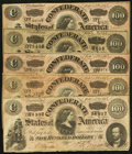 Confederate Notes:1864 Issues, T65 $100 1864 PF-2 (3); PF-3 (2).. ... (Total: 5 notes)
