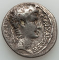 Ancients:Roman Provincial , Ancients: SYRIA. Antioch. Augustus (27 BC-AD 14). AR tetradrachm(14.26 gm). About VF....