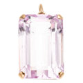 Estate Jewelry:Pendants and Lockets, Kunzite, Diamond, Pink Gold Pendant. . ...