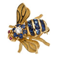 Estate Jewelry:Brooches - Pins, Diamond, Sapphire, Ruby, Gold Brooch, Rosenthal. . ...