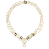 Freshwater Cultured Pearl, Mother-of-Pearl, Gold Necklace