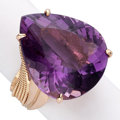 Estate Jewelry:Rings, Amethyst, Pink Gold Ring. . ...