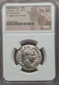 Ancients:Roman Provincial , Ancients: PHOENICIA. Tyre. Caracalla (AD 198-217). BI tetradrachm.NGC Choice XF....