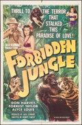 "Movie Posters:Adventure, Forbidden Jungle (Eagle Lion, 1950). One Sheet (27"" X 41"").Adventure.. ..."