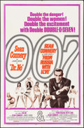 "Movie Posters:James Bond, Dr. No/From Russia with Love Combo (United Artists, R-1965). OneSheet (27"" X 41""). James Bond.. ..."