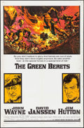 "Movie Posters:War, The Green Berets (Warner Brothers, 1968). One Sheet (27"" X 41"") & Lobby Cards (7) (11"" X 14""). War.. ... (Total: 8 Items)"