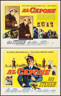 "Movie Posters:Crime, Al Capone (Allied Artists, 1959). Half Sheets (2) (22"" X 28"") Styles A & B. Crime.. ... (Total: 2 Items)"