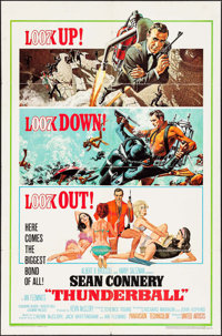 "Thunderball (United Artists, 1965). One Sheet (27"" X 41""). James Bond"