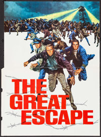 "The Great Escape (United Artists, 1963). Gatefold Promos (2) (Unfolded: 17.5"" X 23.75"", Folded: 9"" X 12.2..."