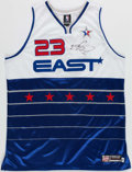 Basketball Collectibles:Uniforms, 2006 LeBron James Signed UDA All-Star Jersey 26/123. ...