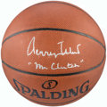 """Basketball Collectibles:Balls, Jerry West Single Signed Basketball with """"Mr. Clutch"""" Inscription...."""