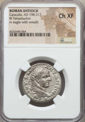 Ancients:Roman Provincial , Ancients: SYRIA. Antioch. Caracalla (AD 198-217). BI tetradrachm.NGC Choice XF....