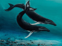 Robert Wyland (American, b. 1956) Humpback Whales Oil on canvas 36 x 48 inches (91.4 x 121.9 cm)<