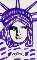 Fine Art - Work on Paper:Drawing, Peter Max (American, b. 1937). Liberty . Marker on paper.21-1/2 x 13-1/2 inches (54.6 x 34.3 cm) (sight). Signed lower ...