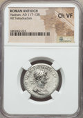 Ancients:Roman Provincial , Ancients: SYRIA. Antioch. Hadrian (AD 117-138). AR tetradrachm. NGCChoice VF....