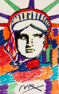 Fine Art - Work on Paper:Drawing, Peter Max (American, b. 1937). Liberty. Marker on paper.21-1/2 x 13-1/2 inches (54.6 x 34.3 cm) (sight). Signed lower c...