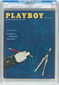 Magazines:Vintage, Playboy V6#4 (HMH Publishing, 1959) CGC NM 9.4 Off-white to white pages....