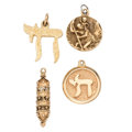 Estate Jewelry:Other, Gold Charms. . ... (Total: 4 Items)