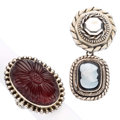 Estate Jewelry:Lots, Amber, Hardstone Cameo, Silver Jewelry, Stephen Dweck. ... (Total: 2 Items)
