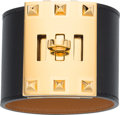 Luxury Accessories:Accessories, Hermes Black Chamonix Leather Kelly Dog Extreme Bracelet with GoldHardware . R Square, 2014. Excellent to PristineCo...