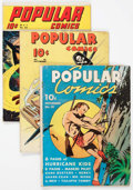 Golden Age (1938-1955):Miscellaneous, Popular Comics #45, 46, and 63 Group (Dell, 1939-41) Condition: Average GD.... (Total: 3 Comic Books)
