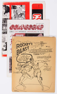 Comic Related Fanzines, Newsletters, and Newspapers Group of 29 (Various Publishers, 1960s-70s) Condition: Average VG/FN...