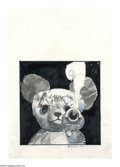 Original Comic Art:Sketches, Simon Bisley - Bad Teddy Illustration Original Art (undated). Franken-teddy, anyone? It looks like this teddy bear got a cra...