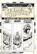 Original Comic Art:Covers, Nick Cardy - Secret Origins #5 Cover Original Art (DC, 1973). Thiseerie Bronze Age blockbuster showcases the birth of the S...