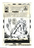 Original Comic Art:Covers, Nick Cardy - Superboy #206 Cover Original Art (DC, 1975). In the 20th Century, Superboy is approached by Ferro Lad and Invis...
