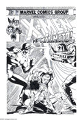 Original Comic Art:Covers, Dave Cockrum - X-Men #150 Cover Recreation Original Art (2001).Magneto, Storm, Sprite, and Cyclops star on this hard-hittin...