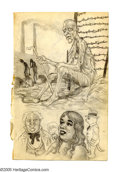 "Original Comic Art:Sketches, Robert Crumb - ""Survivor"" Sketchbook Page Original Art (circa early 1960s). A very eerie sketch from this Underground Comix ..."