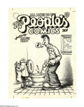 Original Comic Art:Covers, Robert Crumb - People's Comics Unused Cover Original Art (circa1970). Holy cow! Here's something to get all Robert Crumb fa...