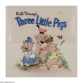 Original Comic Art:Sketches, Walt Disney Studio Artist - The Three Little Pigs Cover Original Art (Simon and Schuster, 1948). Who's afraid of the Big Bad... (Total: 2 Items)